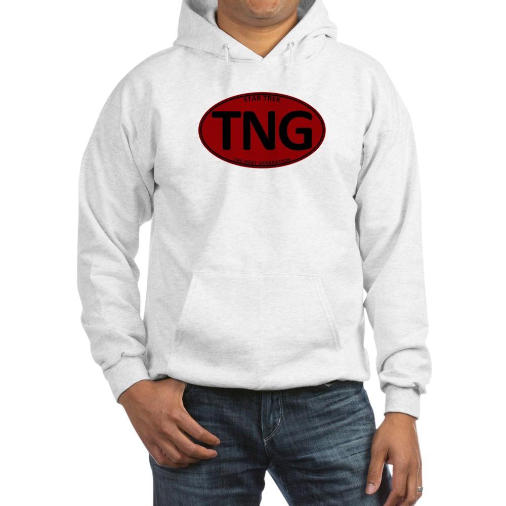 Star Trek: TNG Red Oval Hooded Sweatshirt