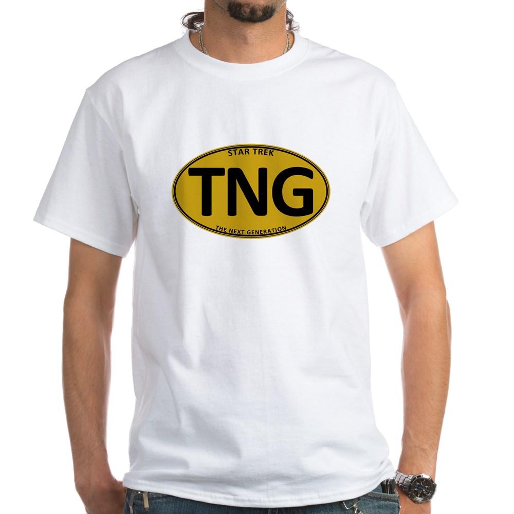 Star Trek: TNG Gold Oval White T-Shirt
