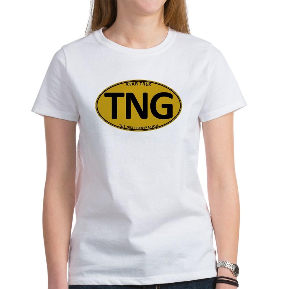 Star Trek: TNG Gold Oval Women's T-Shirt