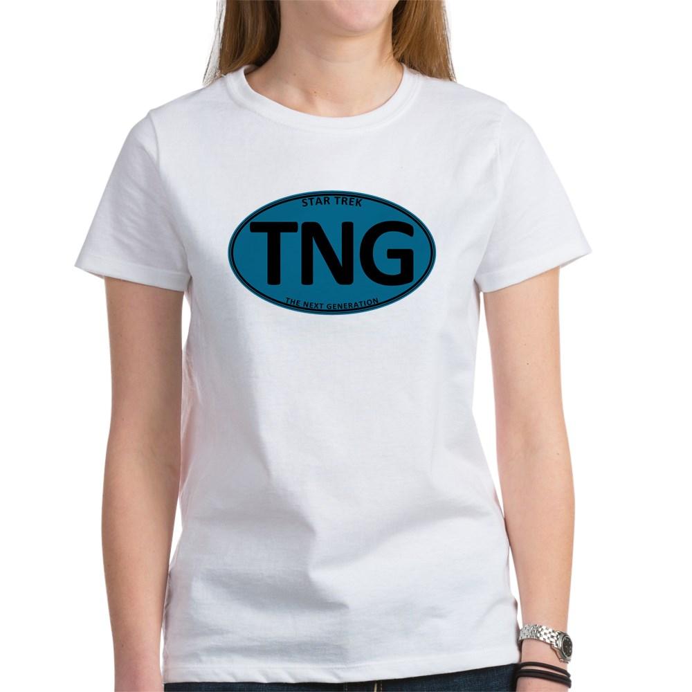 Star Trek: TNG Blue Oval Women's T-Shirt