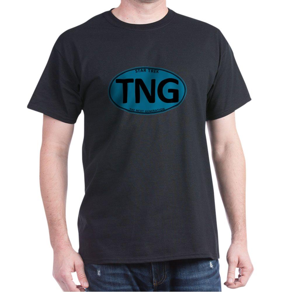 Star Trek: TNG Blue Oval Dark T-Shirt
