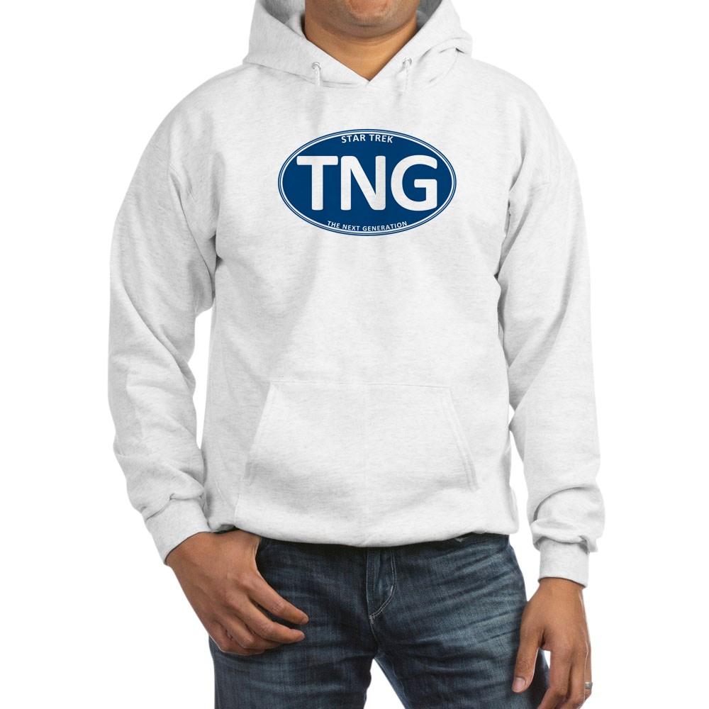 Star Trek: TNG Blue 2 Oval Hooded Sweatshirt