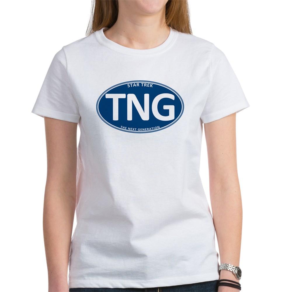 Star Trek: TNG Blue 2 Oval Women's T-Shirt