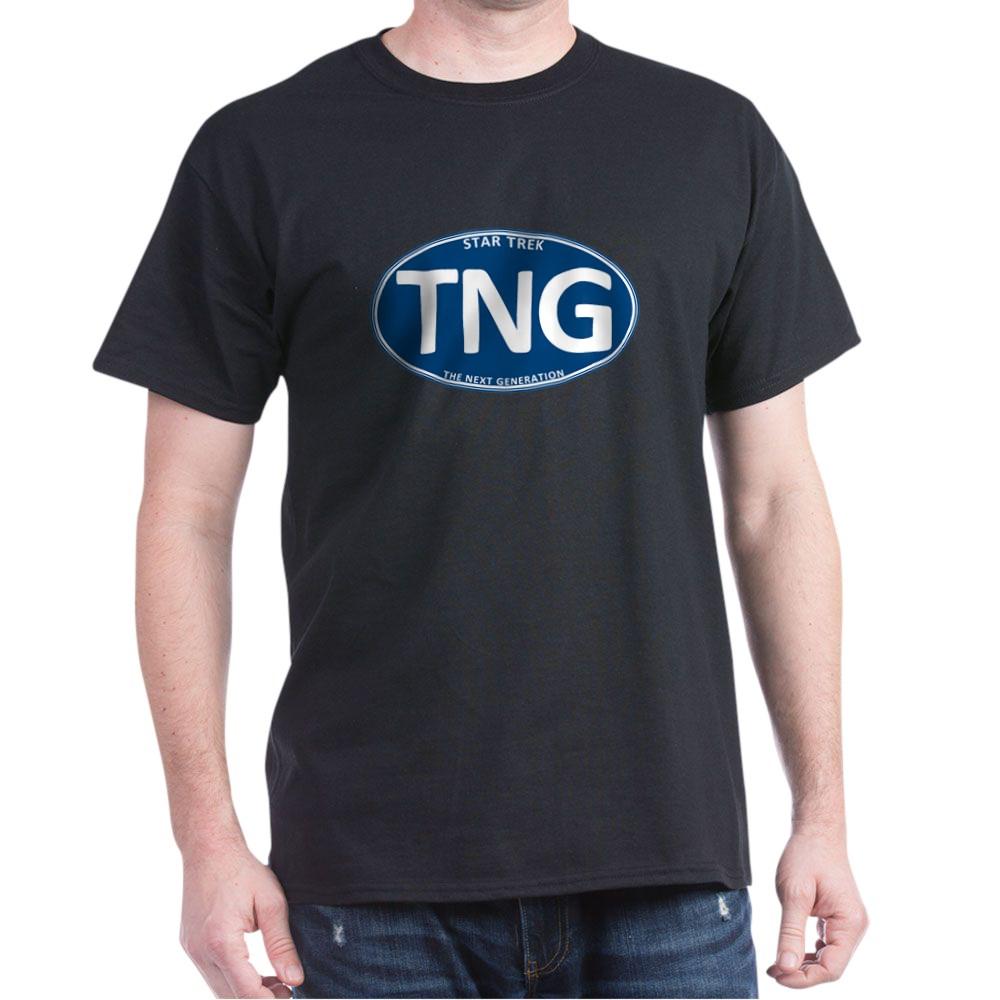 Star Trek: TNG Blue 2 Oval Dark T-Shirt