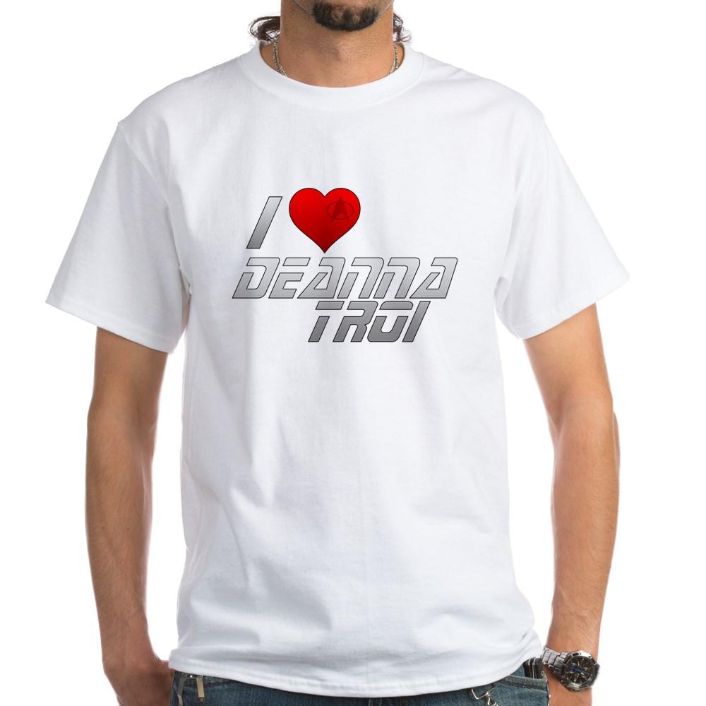 I Heart Deanna Troi White T-Shirt