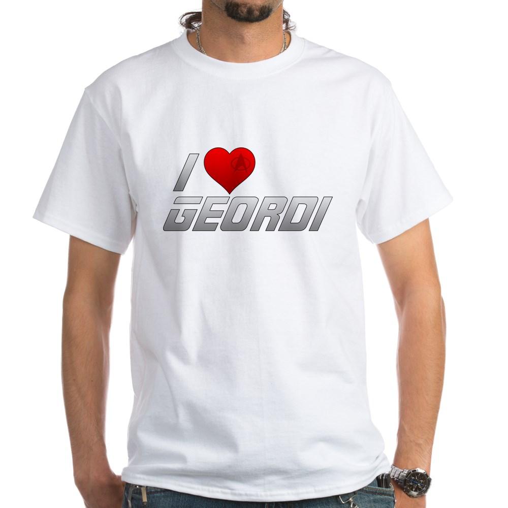 I Heart Geordi White T-Shirt