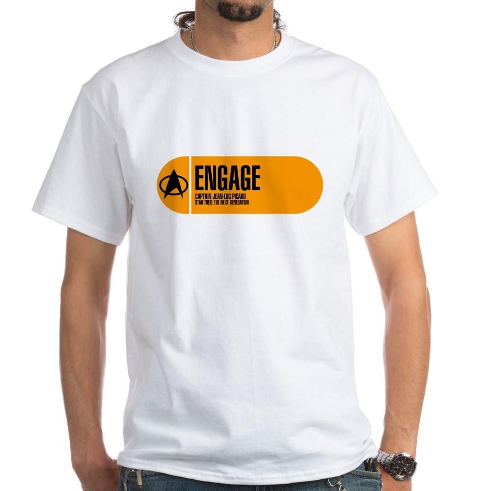 Engage - Star Trek Quote White T-Shirt