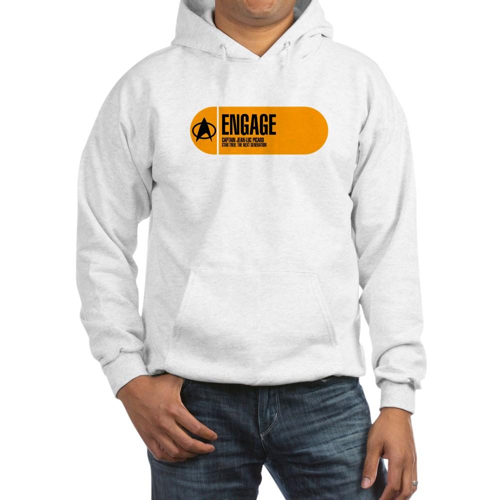 Engage - Star Trek Quote Hooded Sweatshirt