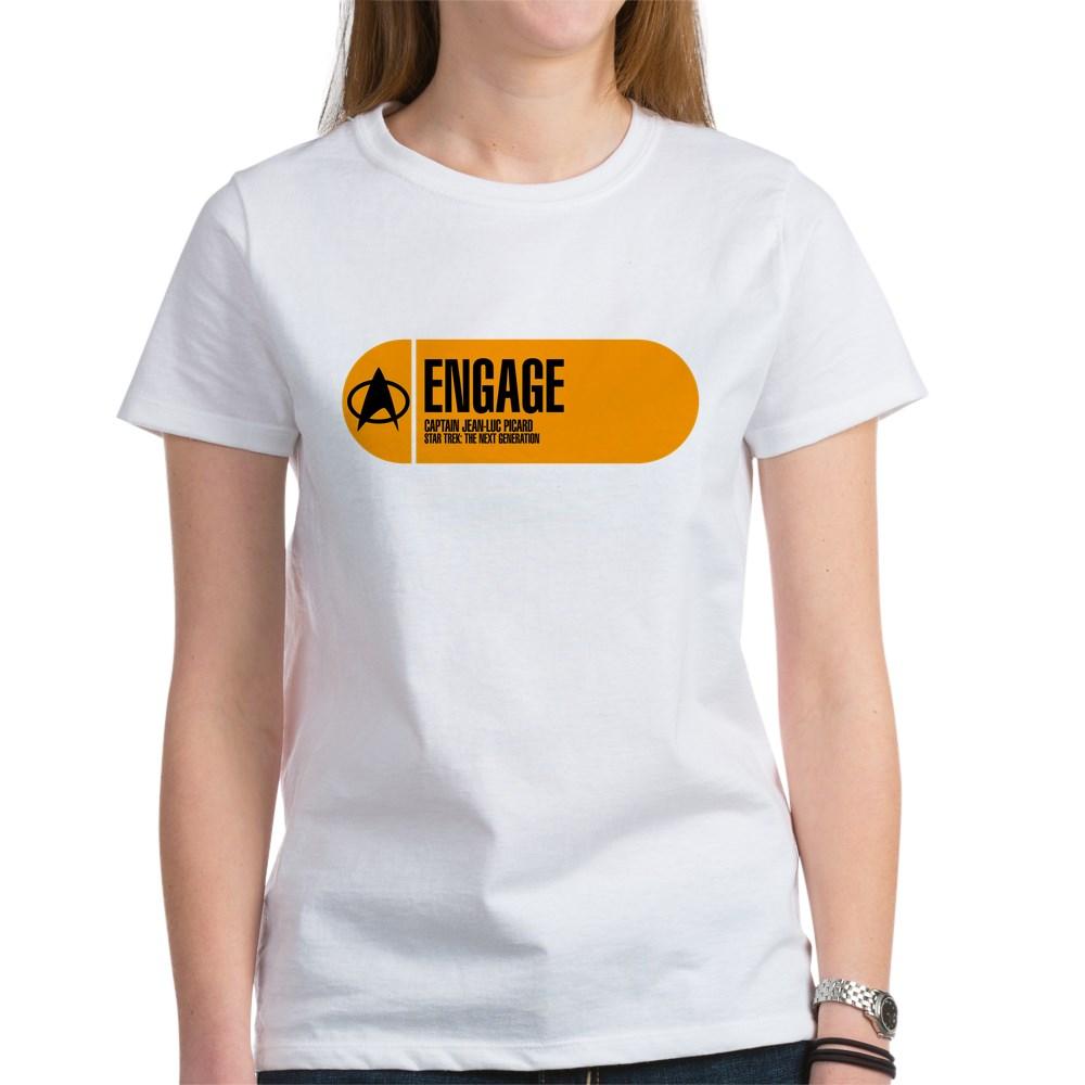 Engage - Star Trek Quote Women's T-Shirt
