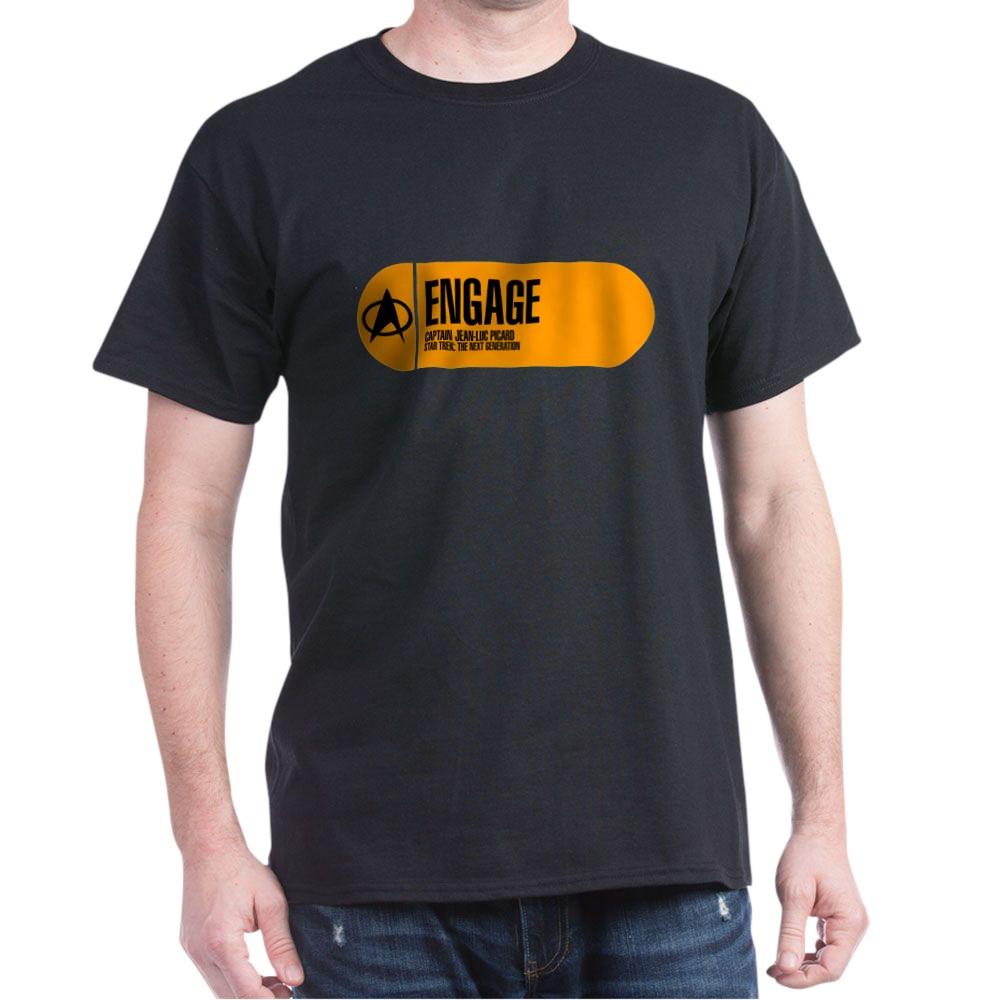 Engage - Star Trek Quote Dark T-Shirt