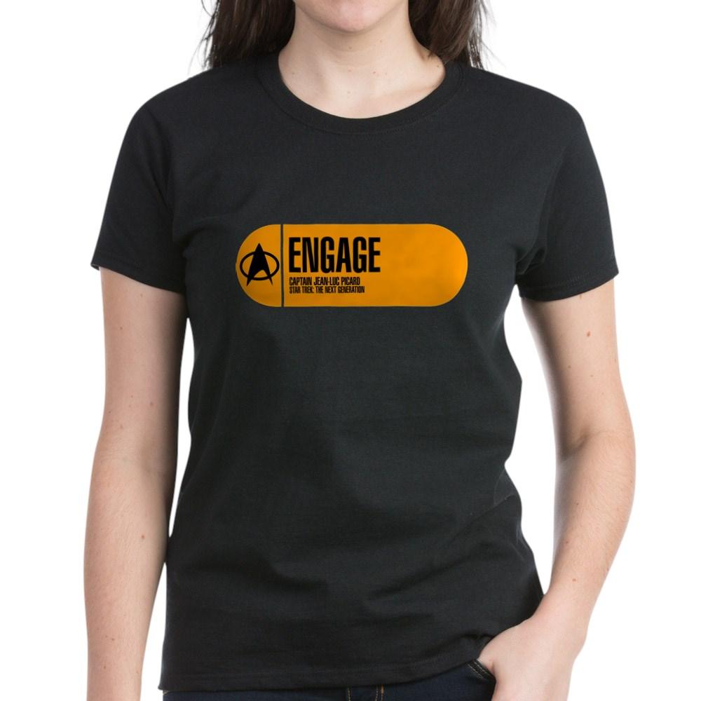 Engage - Star Trek Quote Women's Dark T-Shirt