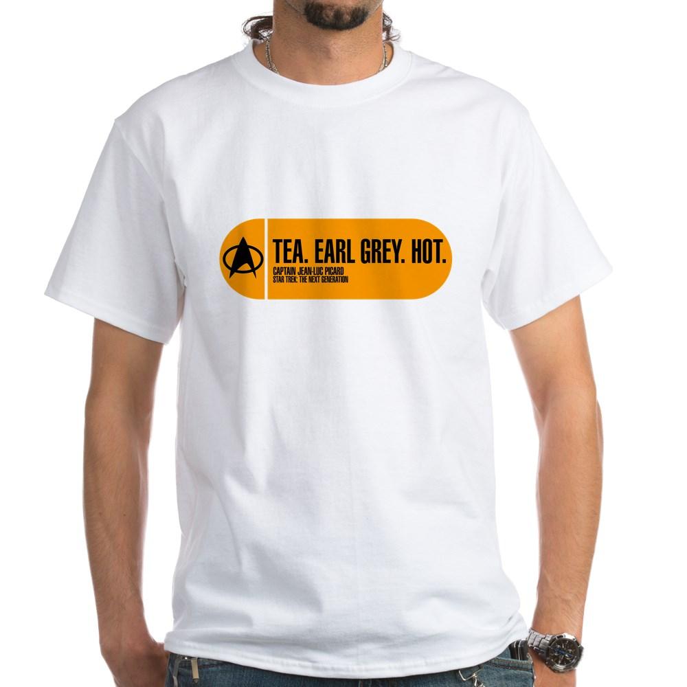 Tea. Earl Grey. Hot. - Star Trek Quote White T-Shirt