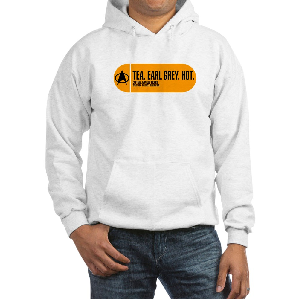 Tea. Earl Grey. Hot. - Star Trek Quote Hooded Sweatshirt