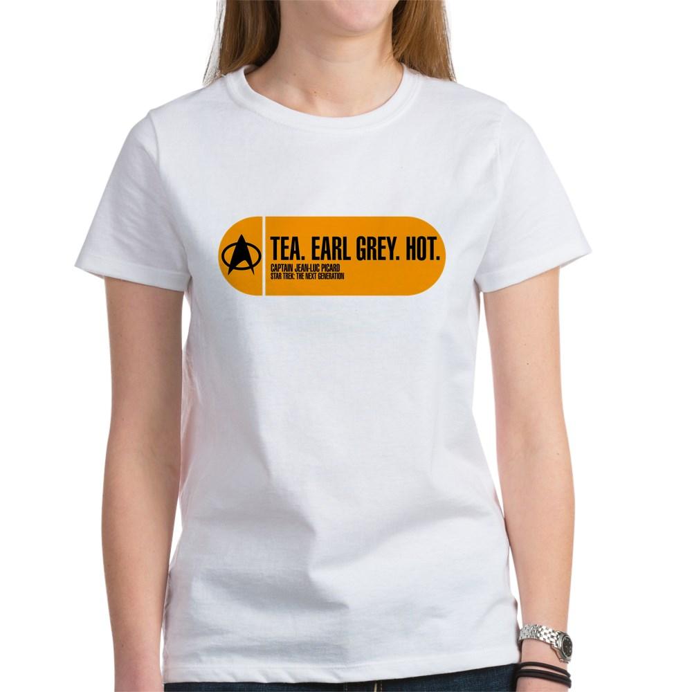 Tea. Earl Grey. Hot. - Star Trek Quote Women's T-Shirt