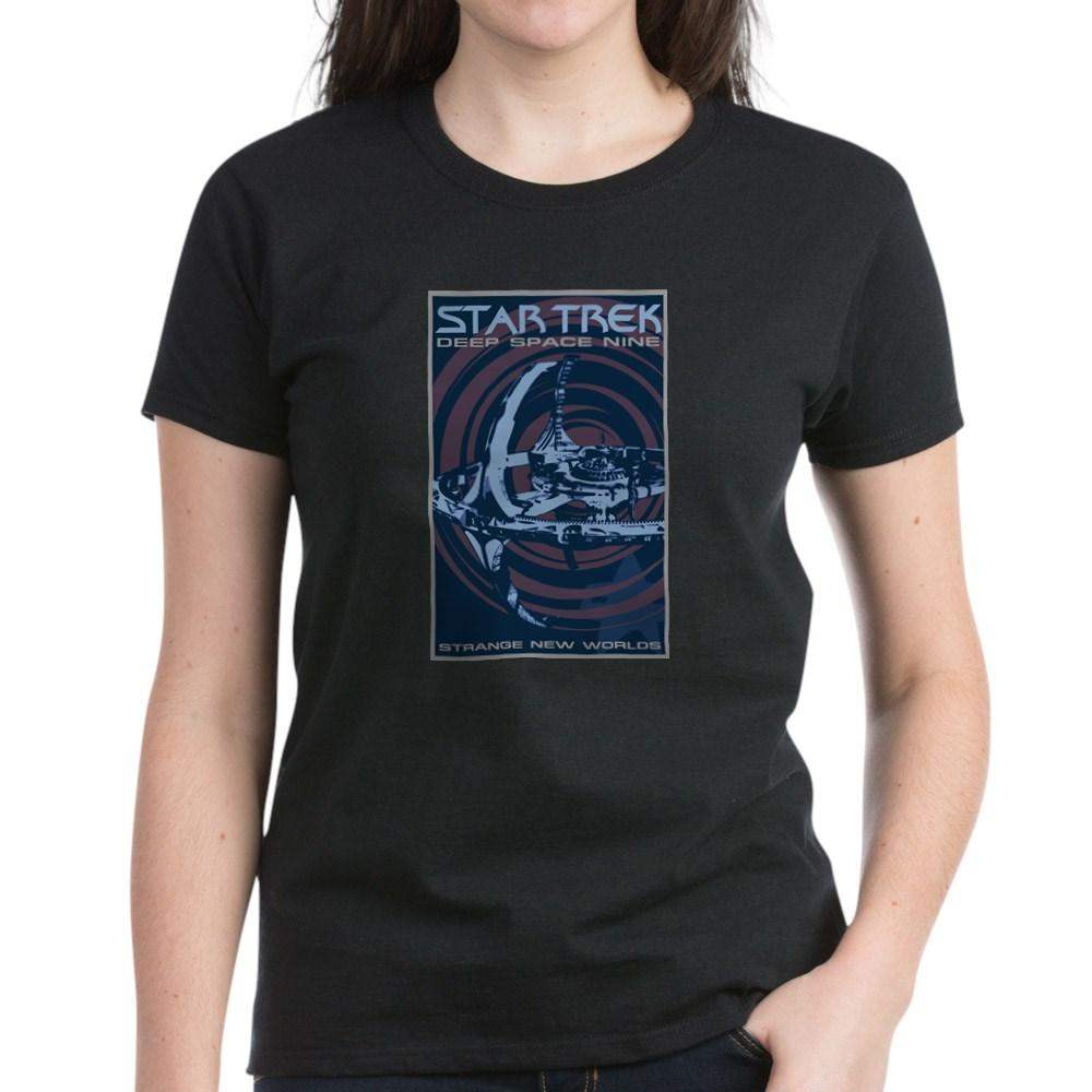 Retro Star Trek: Deep Space Nine Poster Women's Dark T-Shirt
