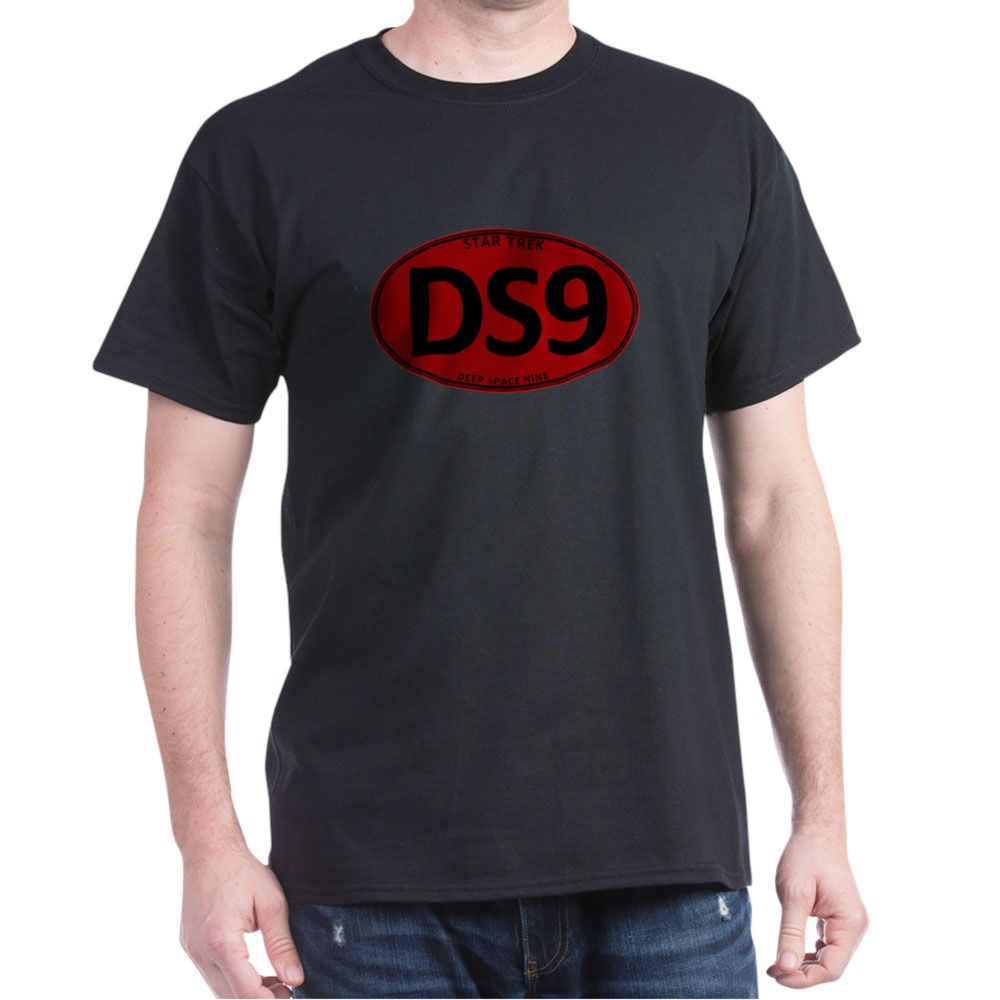 Star Trek: DS9 Red Oval Dark T-Shirt
