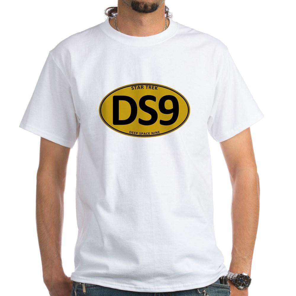 Star Trek: DS9 Gold Oval White T-Shirt