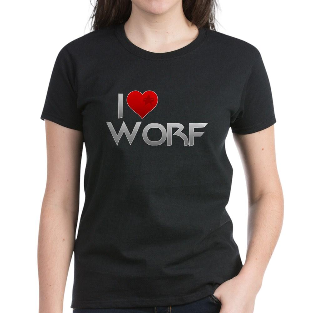 I Heart Worf Women's Dark T-Shirt