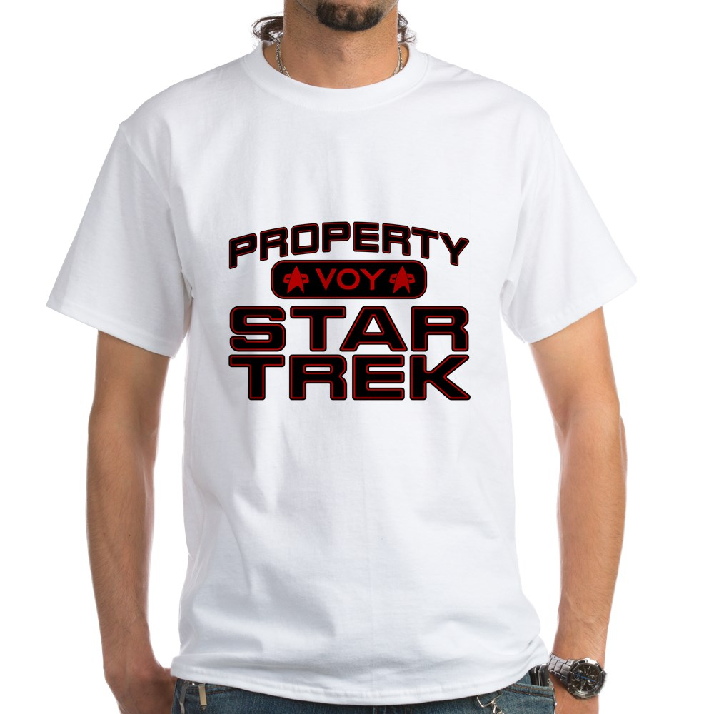 Red Property Star Trek - VOY White T-Shirt
