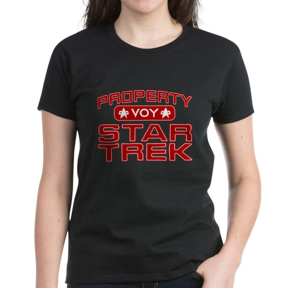 Red Property Star Trek - VOY Women's Dark T-Shirt