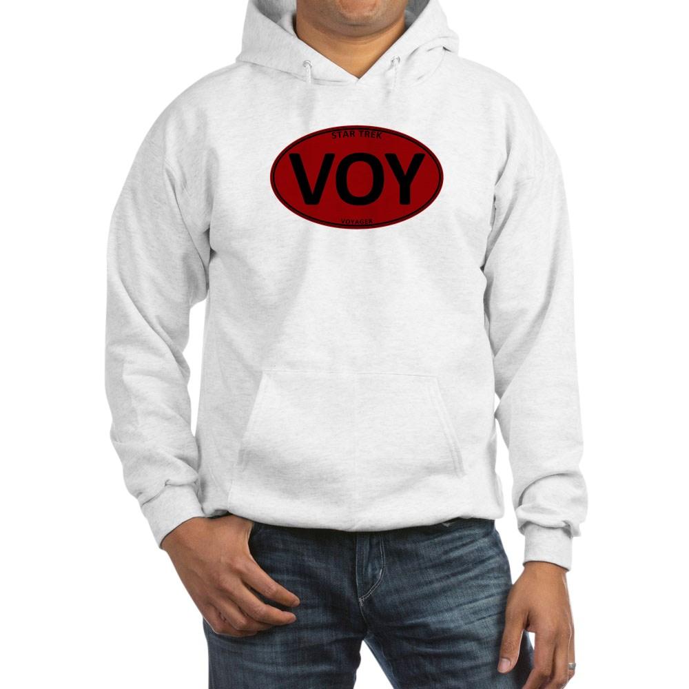 Star Trek: VOY Red Oval Hooded Sweatshirt