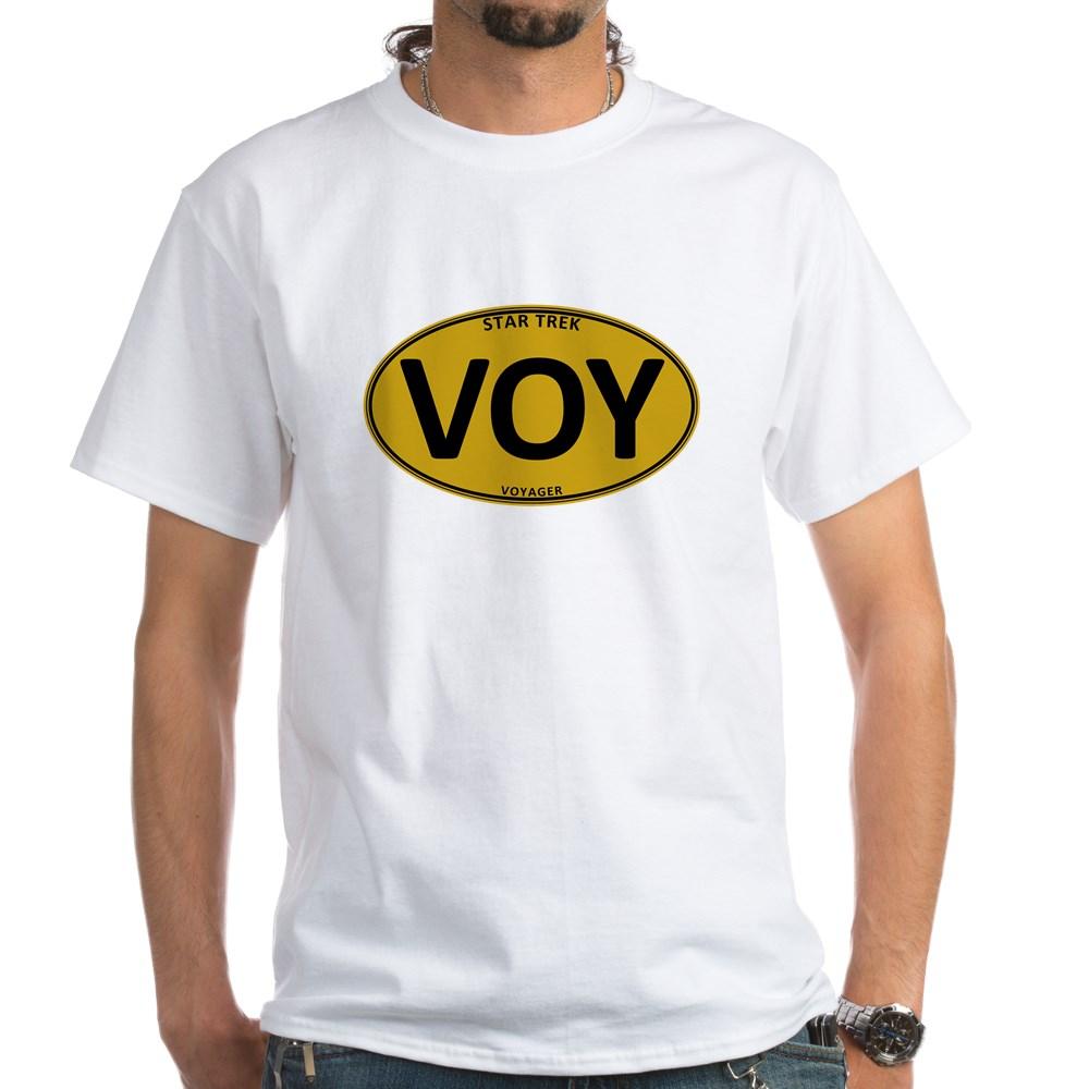 Star Trek: VOY Gold Oval White T-Shirt