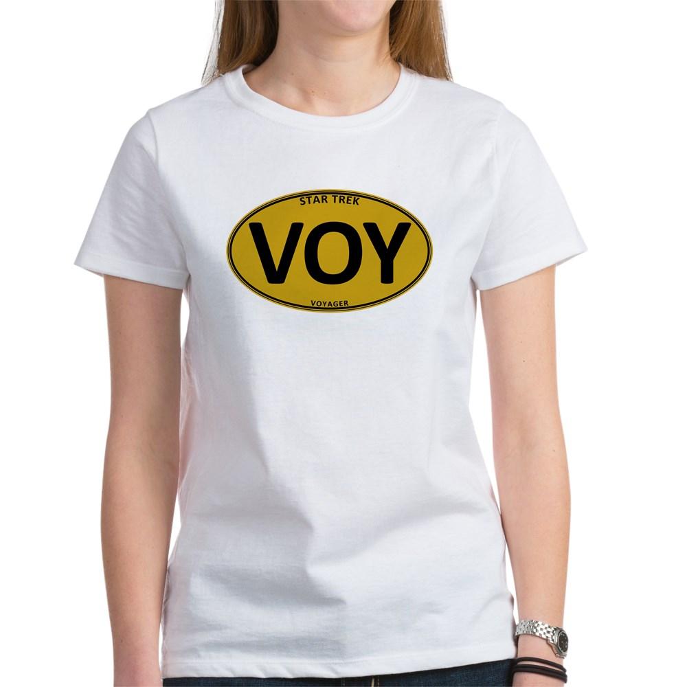 Star Trek: VOY Gold Oval Women's T-Shirt