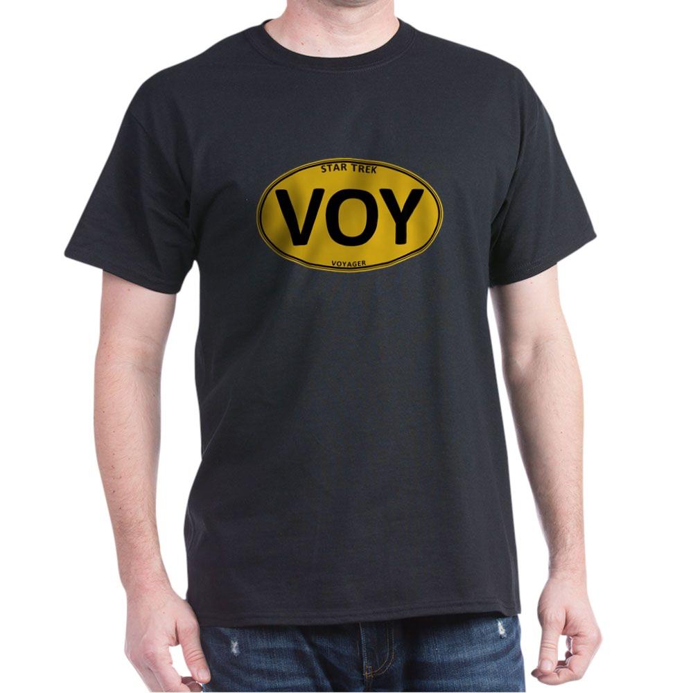 Star Trek: VOY Gold Oval Dark T-Shirt