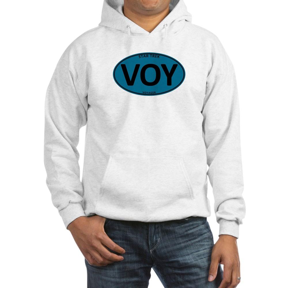 Star Trek: VOY Blue Oval Hooded Sweatshirt