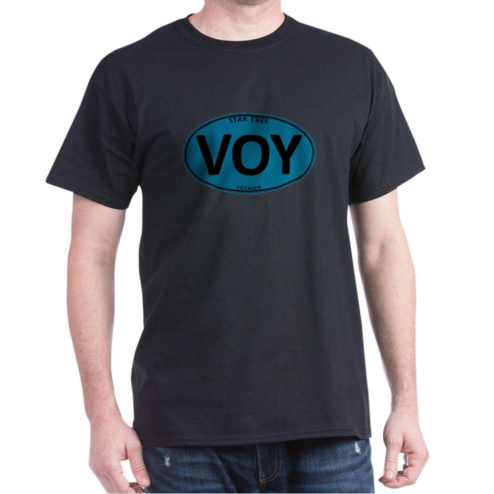 Star Trek: VOY Blue Oval Dark T-Shirt