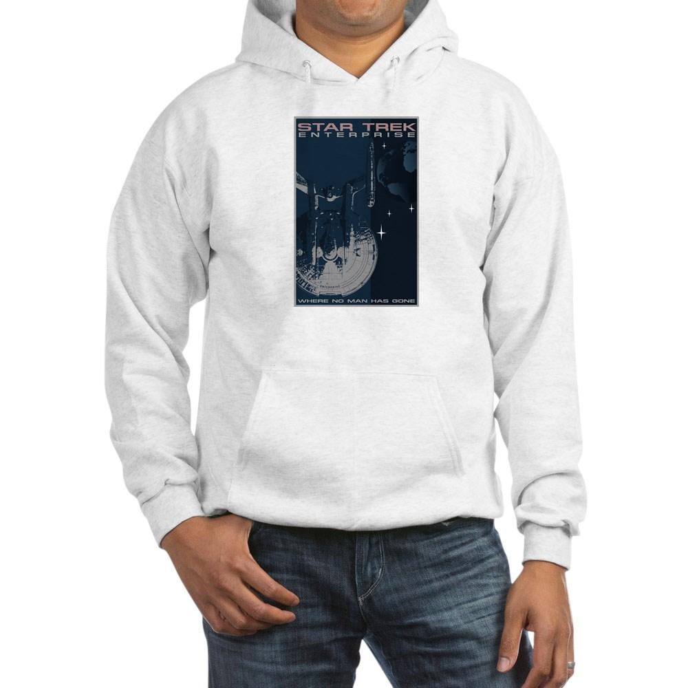 Retro Star Trek: Enterprise Poster Hooded Sweatshirt