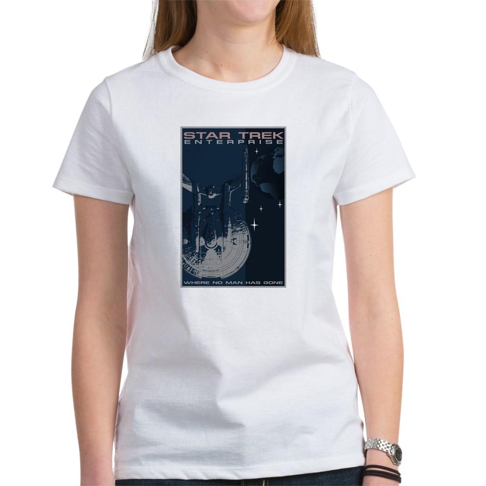 Retro Star Trek: Enterprise Poster Women's T-Shirt