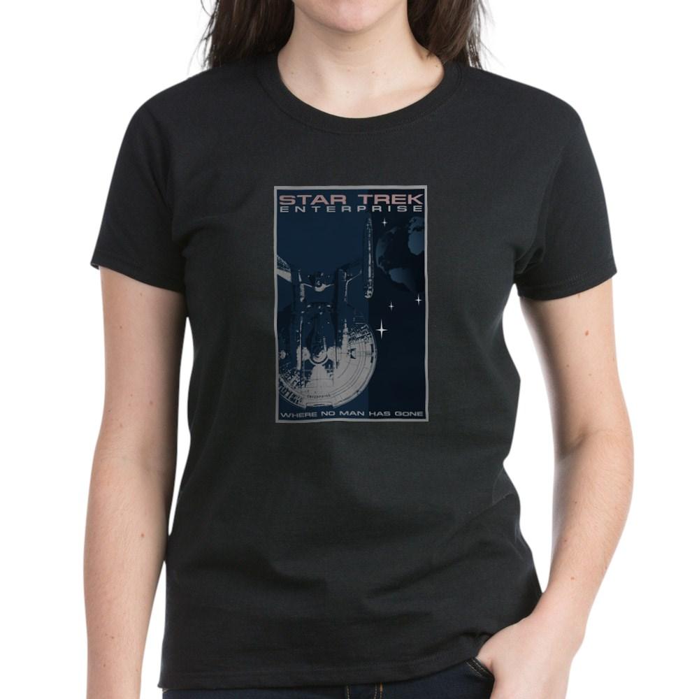 Retro Star Trek: Enterprise Poster Women's Dark T-Shirt