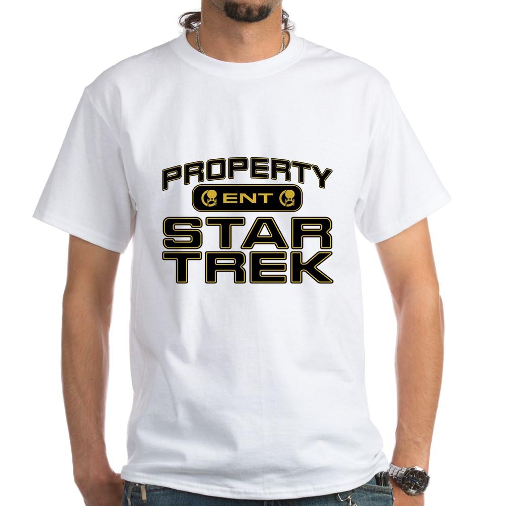 Gold Property Star Trek - ENT White T-Shirt