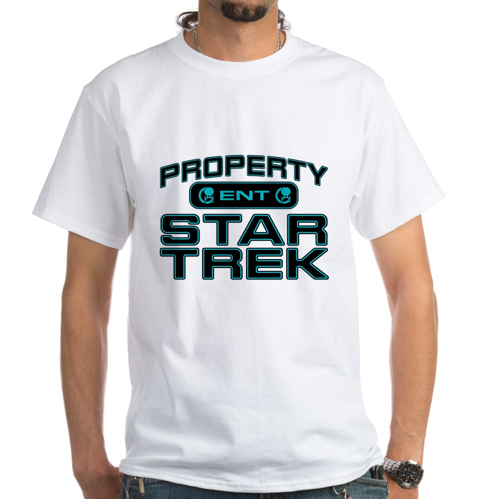 Blue Property Star Trek - ENT White T-Shirt