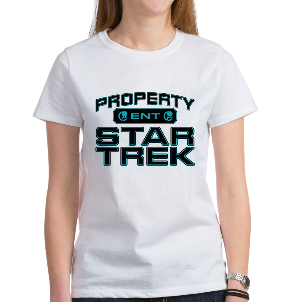 Blue Property Star Trek - ENT Women's T-Shirt