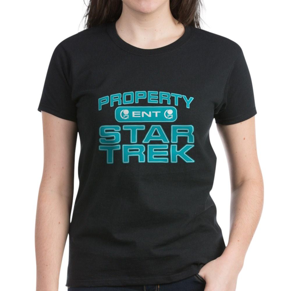 Blue Property Star Trek - ENT Women's Dark T-Shirt