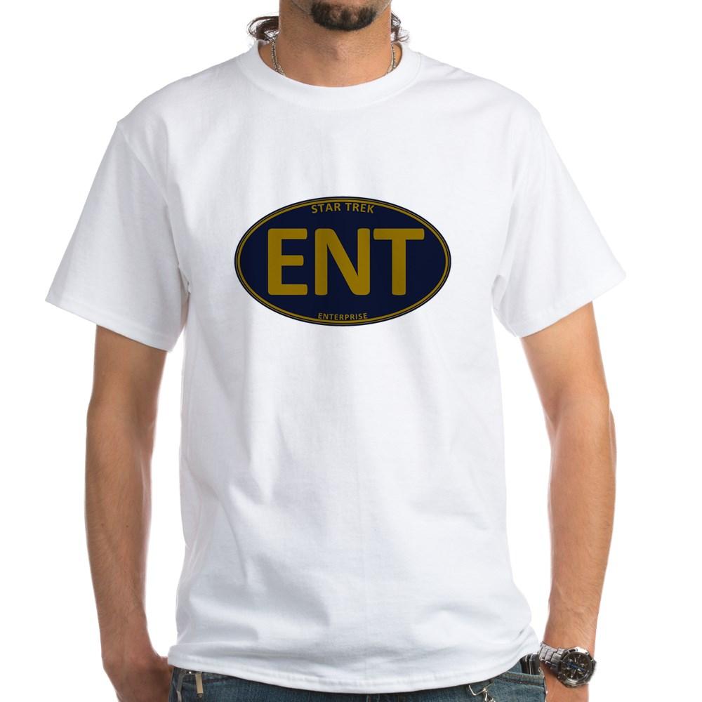 Star Trek: ENT Gold Oval White T-Shirt