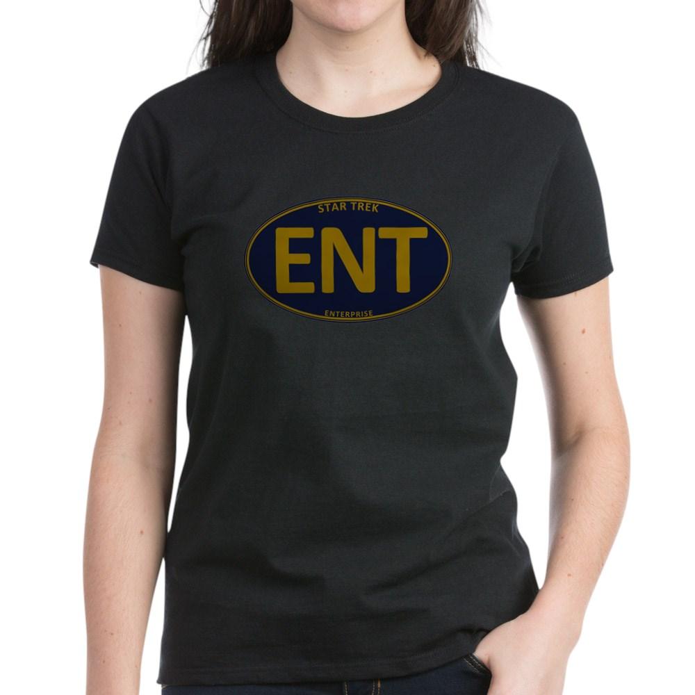 Star Trek: ENT Gold Oval Women's Dark T-Shirt