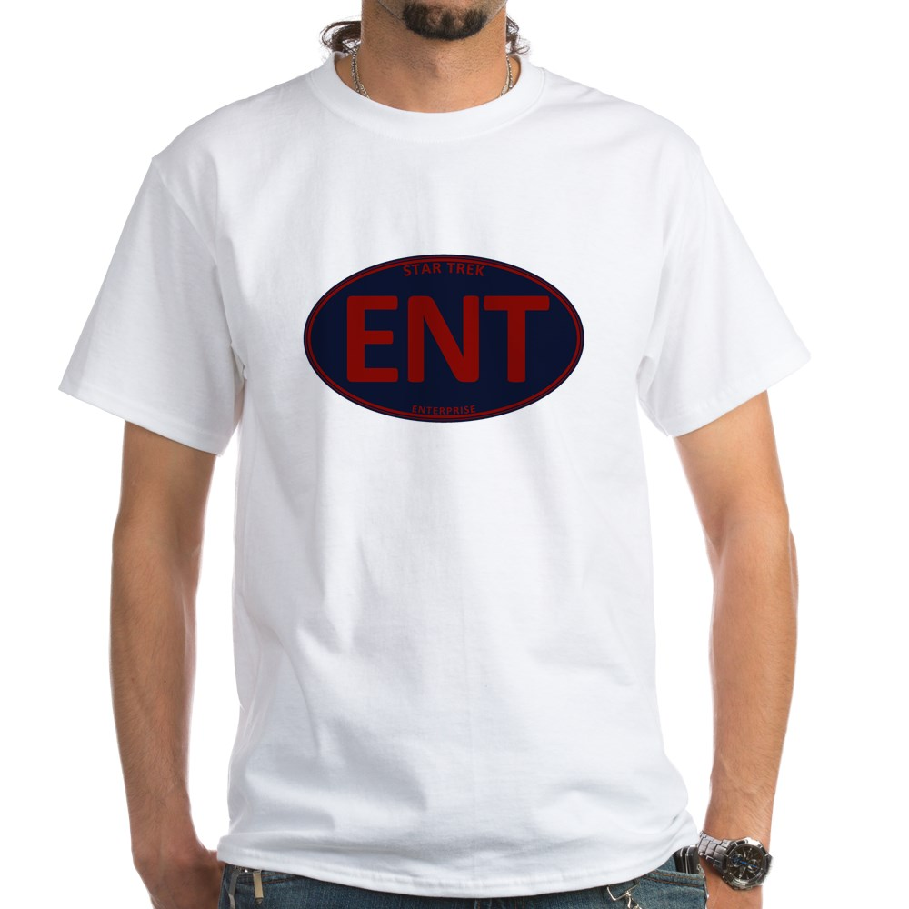 Star Trek: ENT Red Oval White T-Shirt