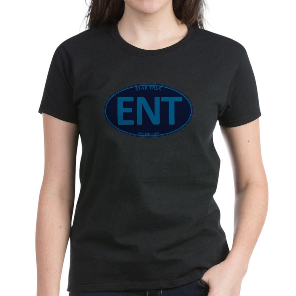 Star Trek: ENT Blue Oval Women's Dark T-Shirt