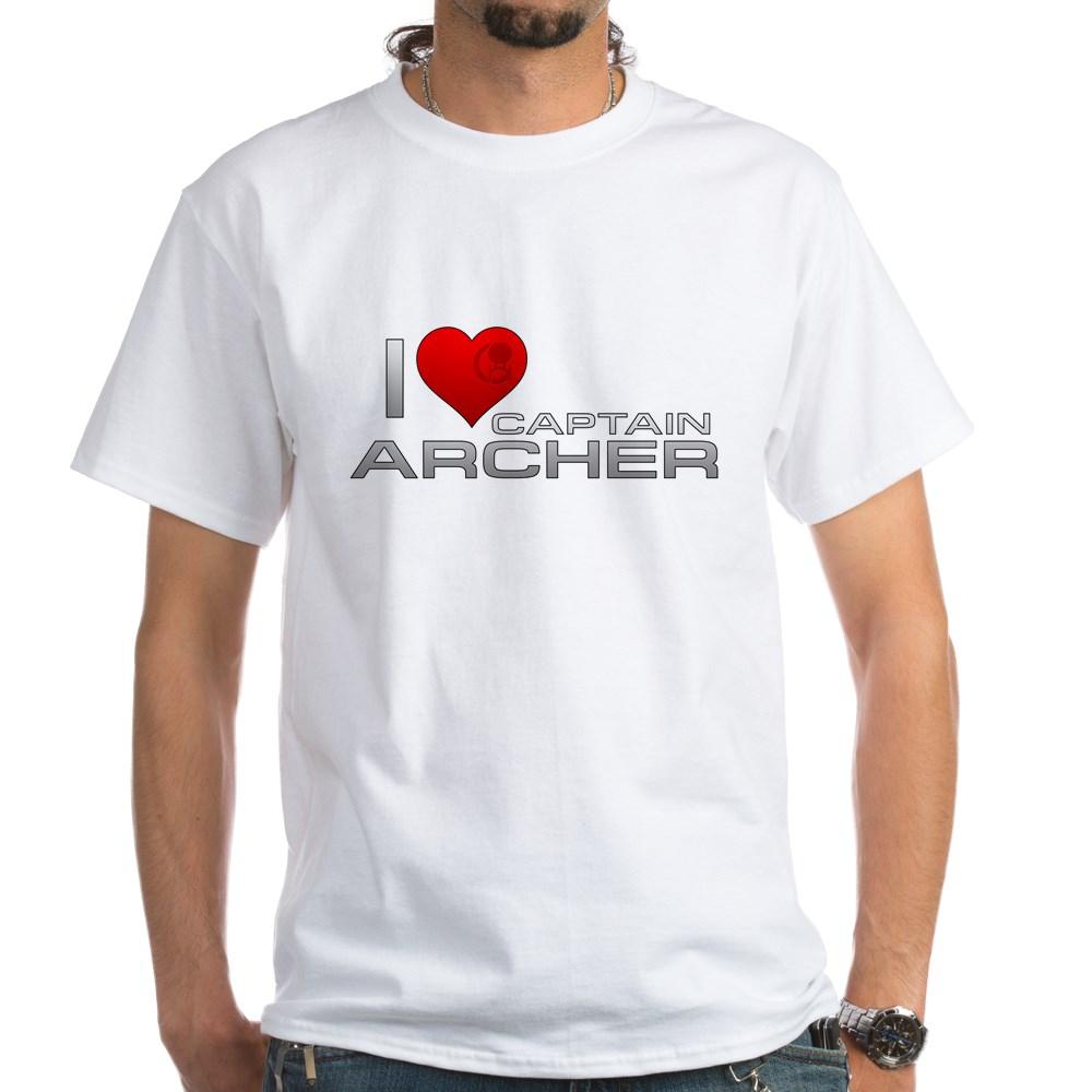 I Heart Captain Archer White T-Shirt