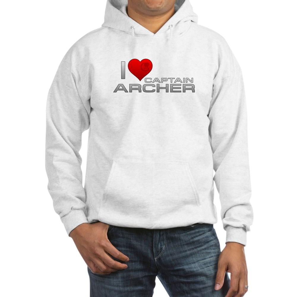 I Heart Captain Archer Hooded Sweatshirt