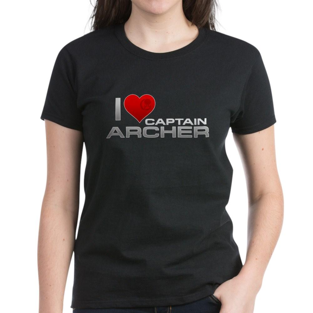 I Heart Captain Archer Women's Dark T-Shirt