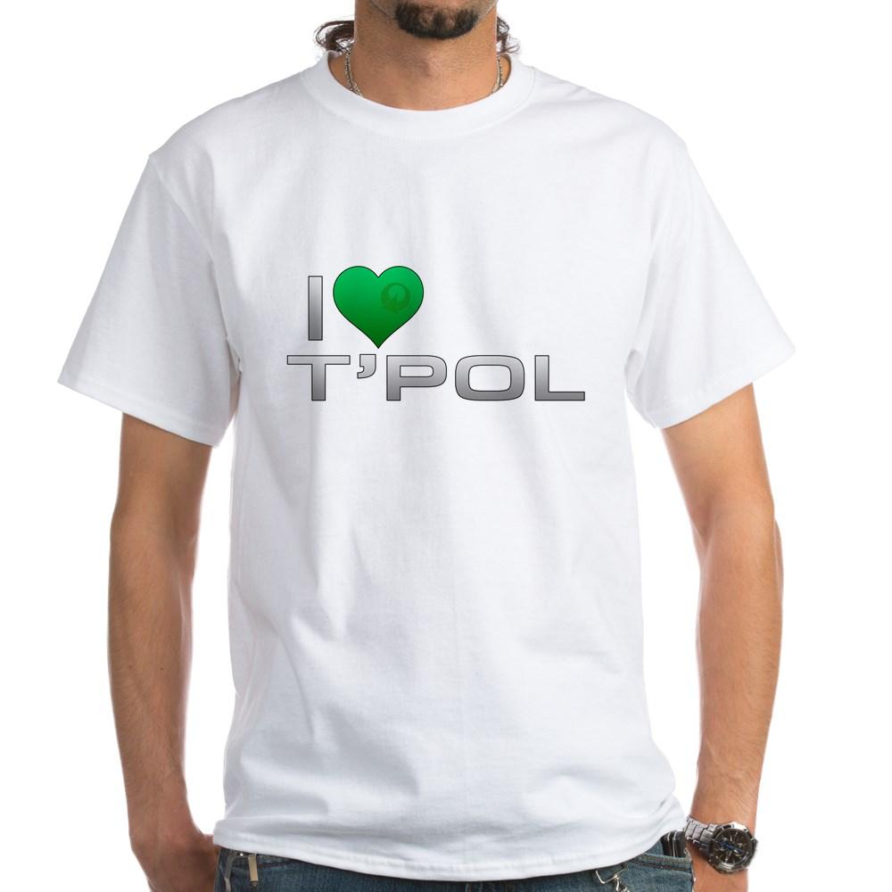 I Heart T'Pol - Green Heart White T-Shirt