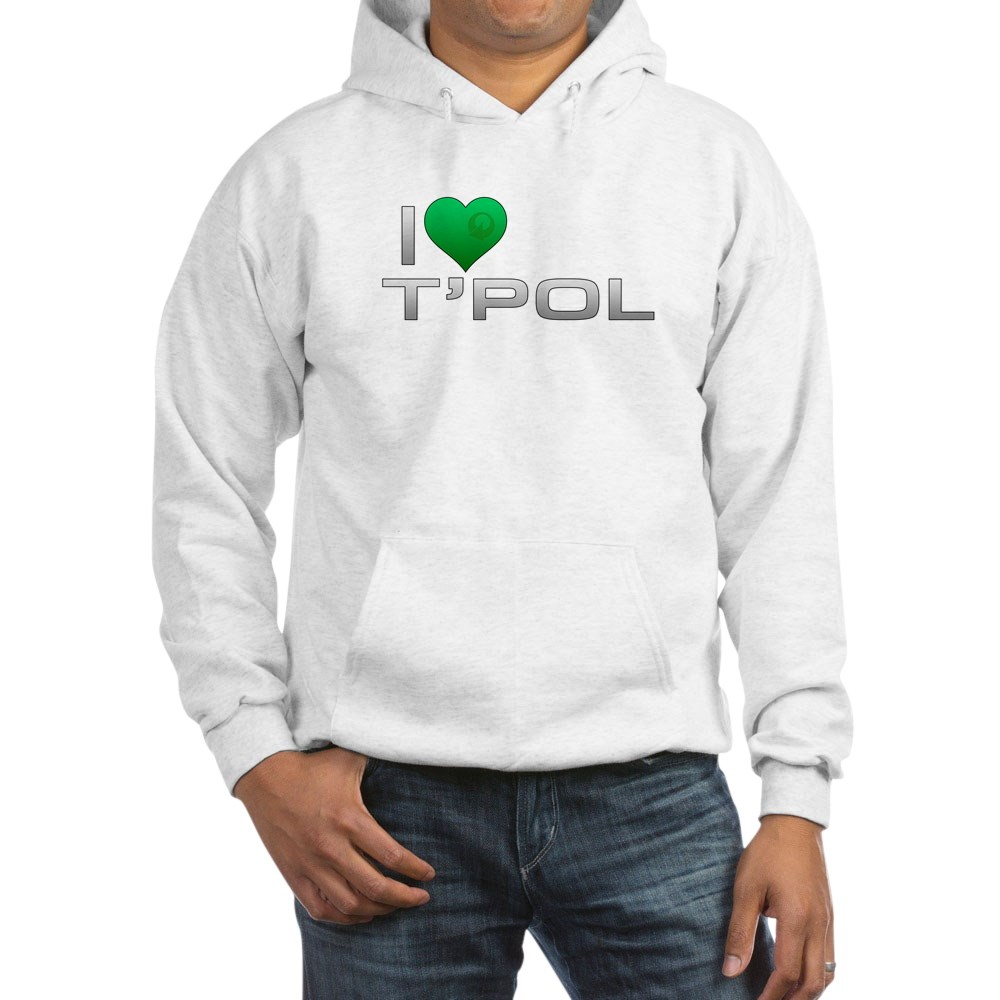 I Heart T'Pol - Green Heart Hooded Sweatshirt