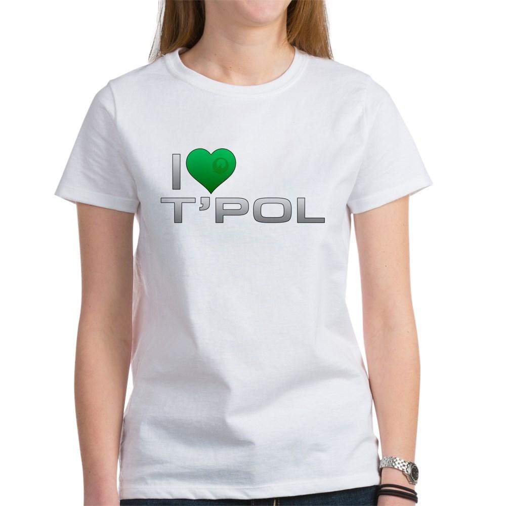 I Heart T'Pol - Green Heart Women's T-Shirt