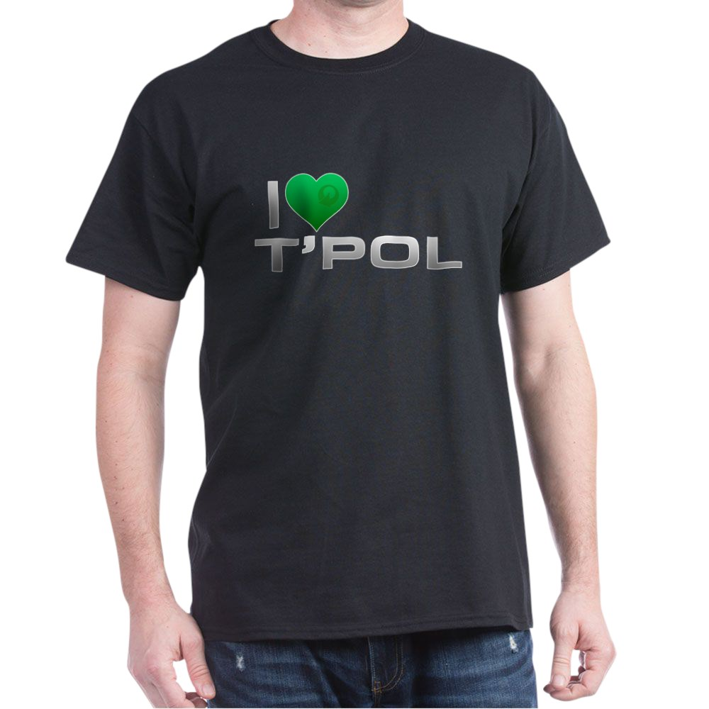 I Heart T'Pol - Green Heart Dark T-Shirt