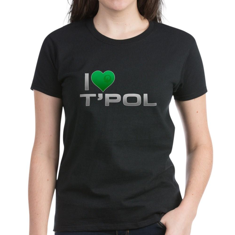 I Heart T'Pol - Green Heart Women's Dark T-Shirt