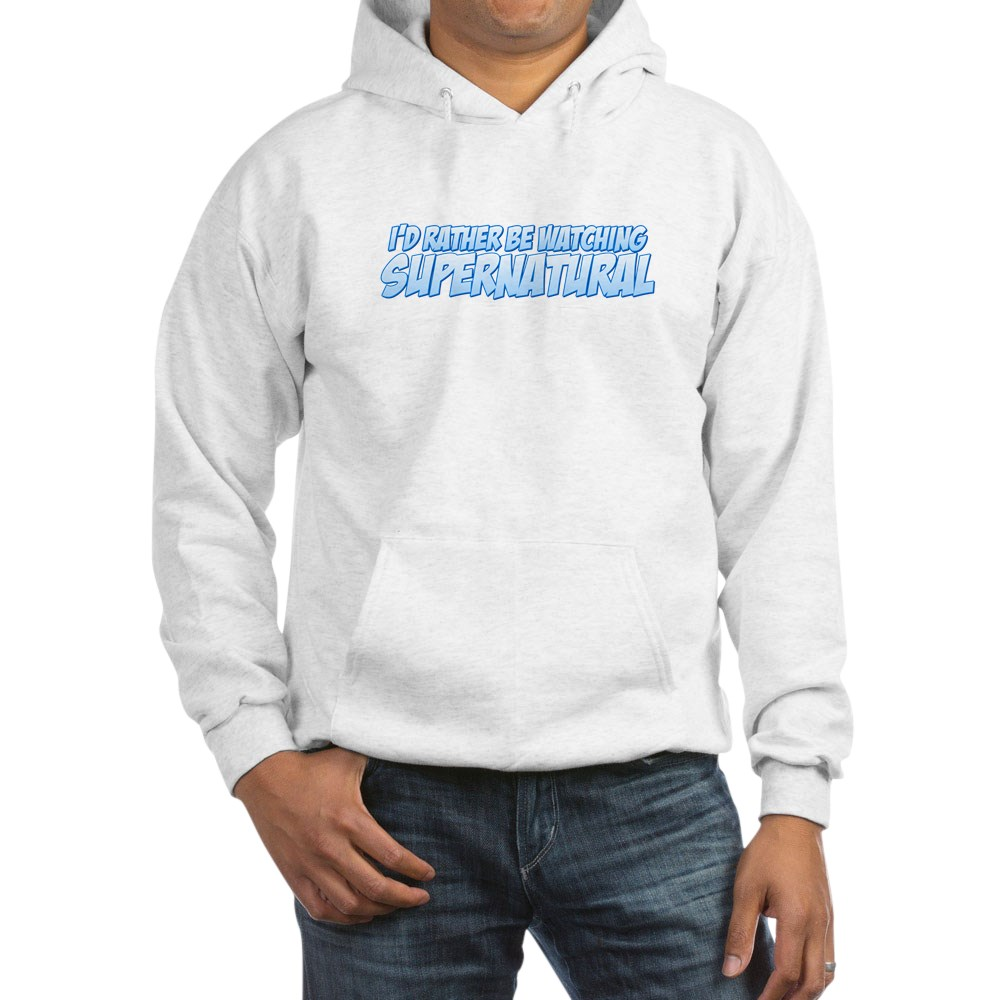 I'd Rather Be Watching Supernatural Hooded Sweatshirt